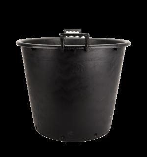 Kanta okrugla sa ručkama, crna – 90L