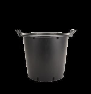 Kanta okrugla sa ručkama, crna – 50L