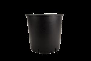 Tegla okrugla visoka, crna – 12L