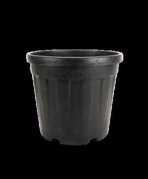 Tegla okrugla rebrasta, crna – 25L