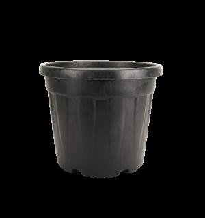 Tegla okrugla rebrasta, crna – 30L