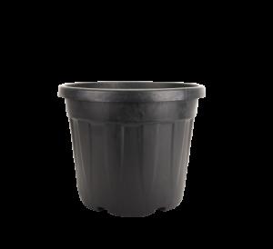 Tegla okrugla rebrasta, crna – 35L