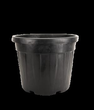 Tegla okrugla rebrasta, crna – 45L