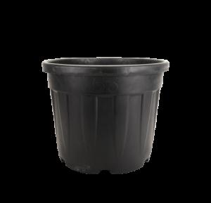 Tegla okrugla rebrasta, crna – 55L